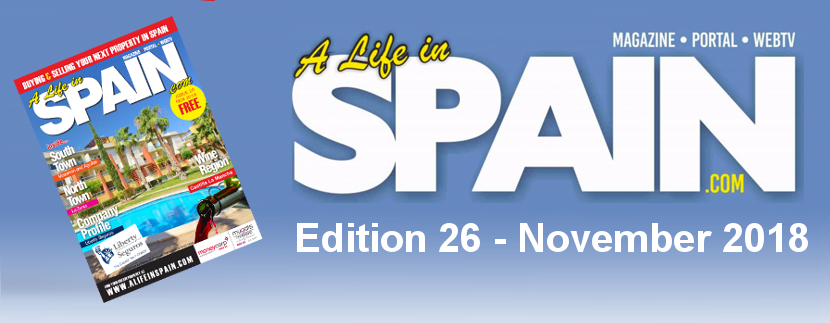 Blog Image for A life in Spain Property Magazine Edition 26 – November 2018 A Life in Spain